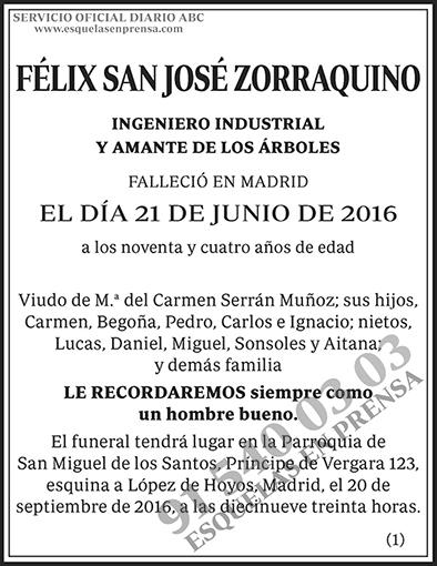 Félix San José Zorraquino